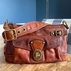 COACH Legacy Whiskey Vachetta Leather Bag